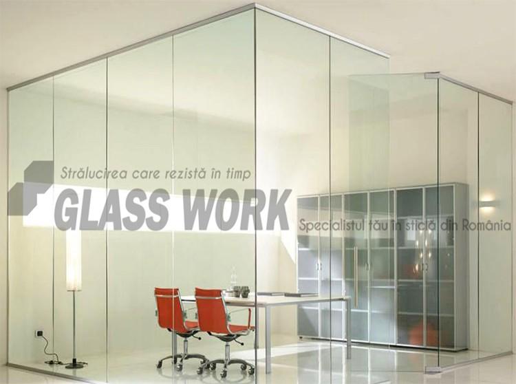 Compartimentări cu sticlă securizată